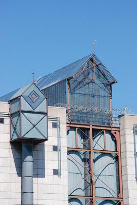 Glasaufbau auf dem Fernheizwerk Saarbrücken, Foto von Uwe Büch