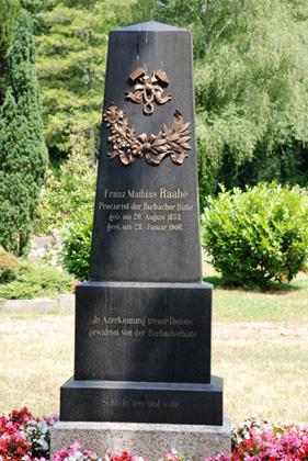 Grabmal eines leitenden Angestellten der Burbacher Hütte ,Saarbrücken Waldfriedhof, Foto: Uwe Büch
