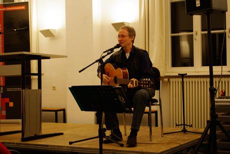 Wolfgang Winkler sorgte für die musikalische Umrahmung